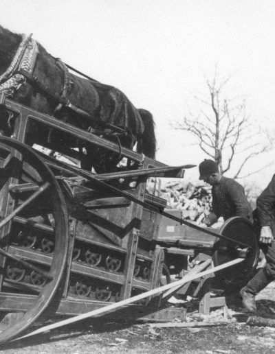Horse-powered firewood saw